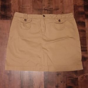 [Old Navy] Tan colored soft corduroy style skirt